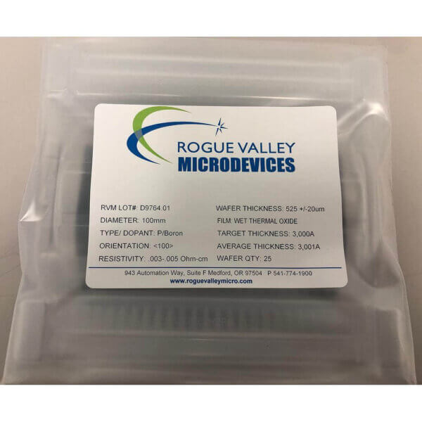 Buy Online! 100mm Silicon Wafers with 3,000A Thermal Oxide from Rogue
