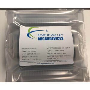 Buy Online! 4um Thermal Oxide on 100mm Silicon Wafers from Rogue