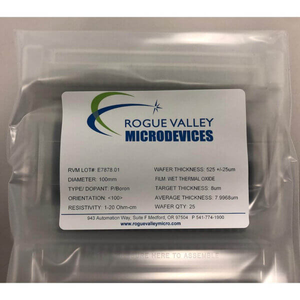 Buy Online! 8um Thick Oxide on 100mm Silicon Wafers direct from Rogue