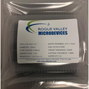 Buy Online! Silicon Wafers with 2,000A LPCVD Nitride Directly from Rogue