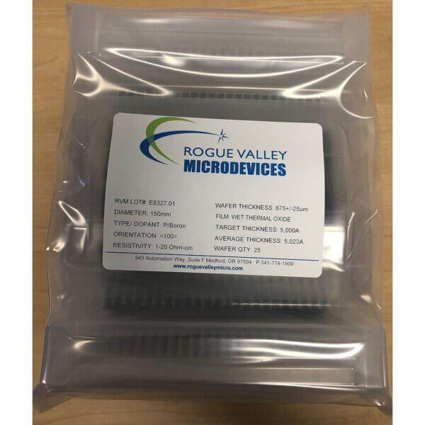 Buy Online! 5,000A Thermal Oxide on 150mm Silicon Wafers from Rogue