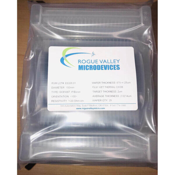 Buy Online! 2um Thick Oxide on 150mm Silicon Wafers from Rogue